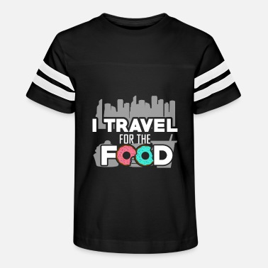 Travel Funny Travelling T-Shirt - I Travel for the Food - Kids' Vintage Sport T-Shirt