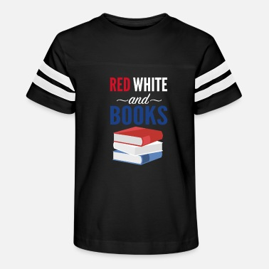 Red White And Blue Red White and Blue / 4th of July Book Lovers Gift - Kids' Vintage Sport T-Shirt
