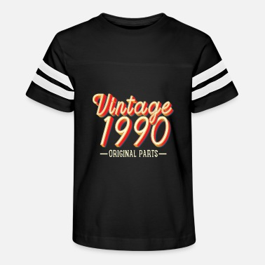 Year Of Birth Vintage 1990 - Kids' Vintage Sport T-Shirt