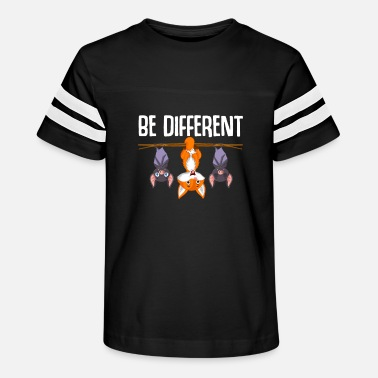 Autism Be Different Hanging Fox Bat Cute Forest Animal - Kids' Vintage Sport T-Shirt