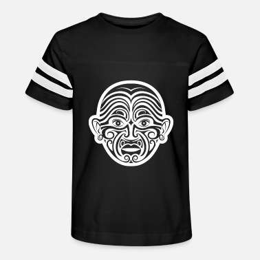 Maori face tattoo white - Kids' Vintage Sport T-Shirt