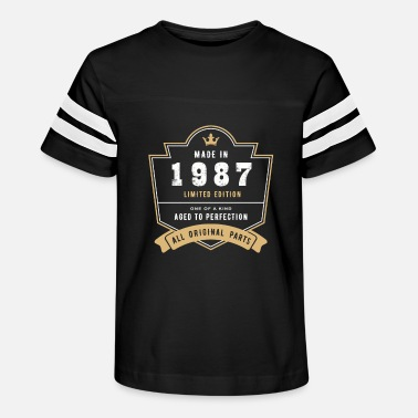 Born In October Made In 1987 Limited Edition All Original Parts - Kids' Vintage Sport T-Shirt