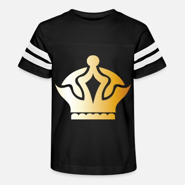 King prince gold VIP crown fun lable vector image - Kids' Vintage Sport T-Shirt