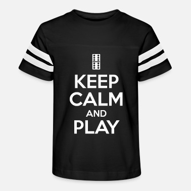 Six Keep calm and play dominoes player gift - Kids' Vintage Sport T-Shirt