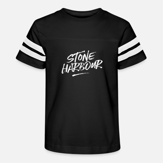Birthday T-Shirts - Stone Harbour - Kids' Vintage Sport T-Shirt black/white