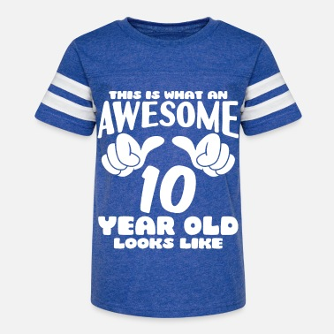 Awesomeness This is what an Awesome 10 year old looks like - Kids' Vintage Sport T-Shirt