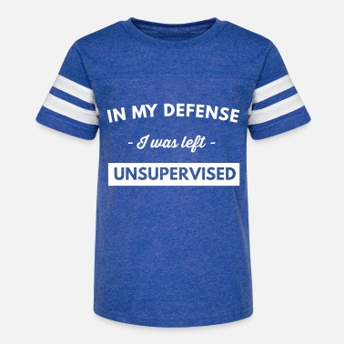 In My Defense I Was Left Unsupervised - Kids' Vintage Sport T-Shirt
