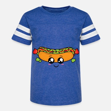 Cartoon Hot Dog Hot dog burger Cartoon - Kids' Vintage Sport T-Shirt