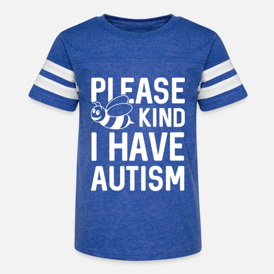 Autism T-Shirts - I Have Autism - Kids' Vintage Sport T-Shirt vintage royal/white