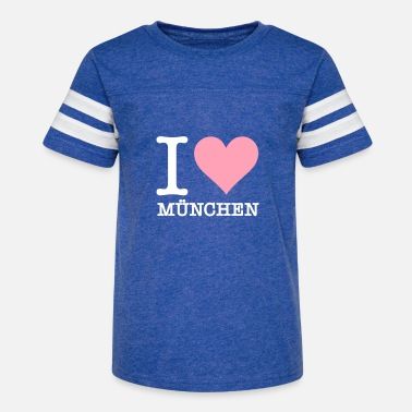 Free State Of Bavaria I Love Munich - Kids' Vintage Sport T-Shirt