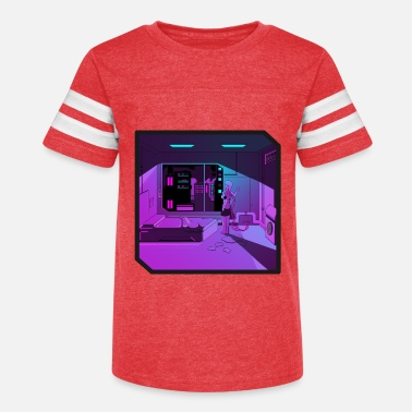 Outrun Style Anime girl retrowave synthwave outrun aesthetics - Kids' Vintage Sport T-Shirt