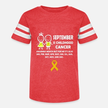 Childhood Childhood Cancer Awareness Month Tee Gift yellow R - Kids' Vintage Sport T-Shirt