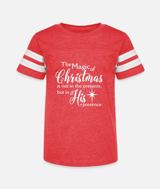 Christmas Carols T-Shirts - Magic of Christmas – Jesus Christmas Shirt - Kids' Vintage Sport T-Shirt vintage red/white