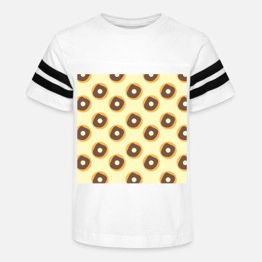 Frosted Doughnut Foodie Doughnut Chocolate Frosted Donut - Kids' Vintage Sport T-Shirt