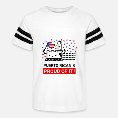 Del Castillo Puerto Rican and Proud Of It - Kids' Vintage Sport T-Shirt