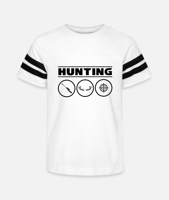 Stag T-Shirts - Hunting Hunter Deer Hunt - Kids' Vintage Sport T-Shirt white/black