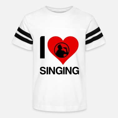 I Love Heart Singing Kids T-Shirt