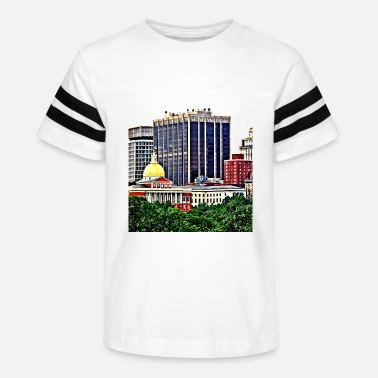 Commonwealth Boston MA - Skyline with Massachusetts State House - Kids' Vintage Sport T-Shirt
