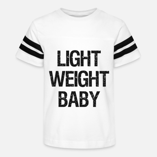 Baby T-Shirts - Light Weight Baby - Bodybuilding Gym Fitness Swole - Kids' Vintage Sport T-Shirt white/black