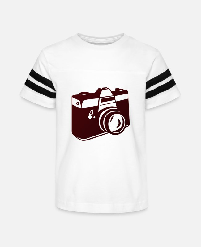 Foto T-Shirts - Photon1 - Kids' Vintage Sport T-Shirt white/black