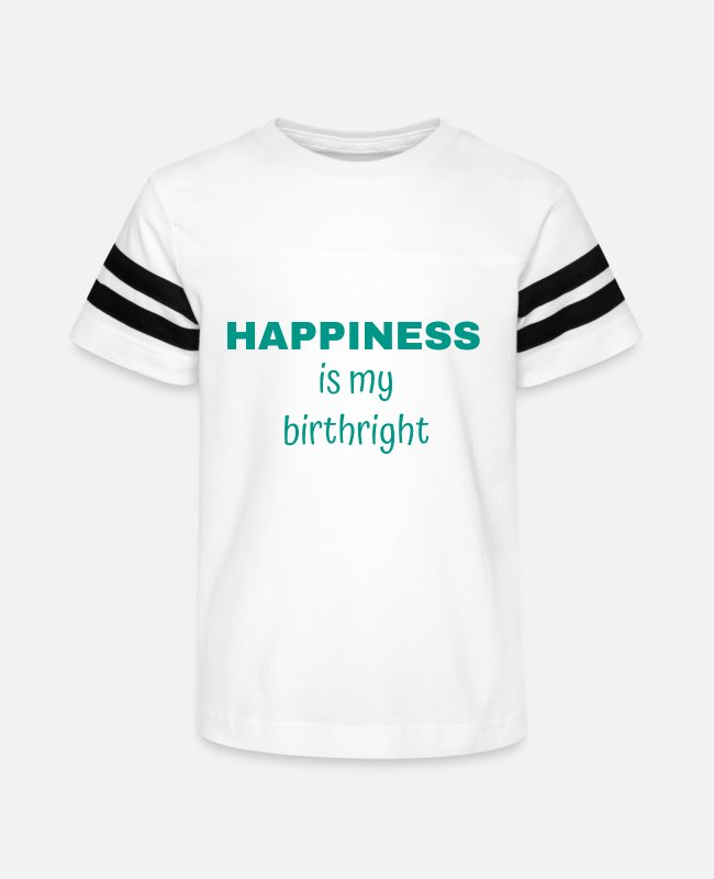 Happiness T-Shirts - HAPPINESS Is My Birthright - Inspirational Quote - Kids' Vintage Sport T-Shirt white/black