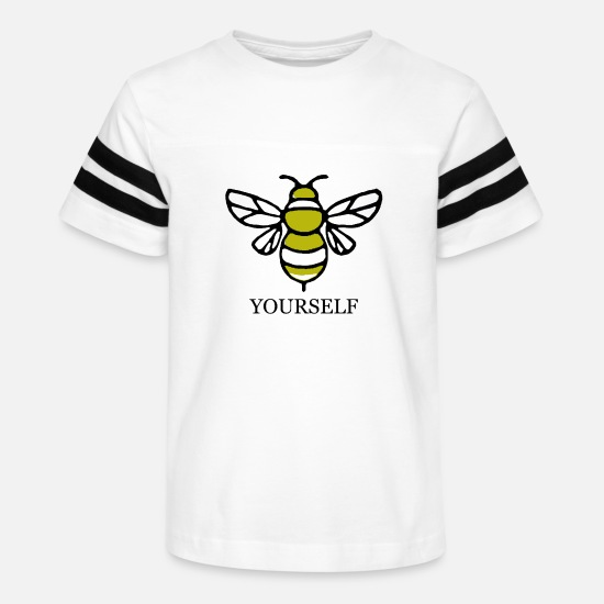 Yourself T-Shirts - Bee yourself - Kids' Vintage Sport T-Shirt white/black