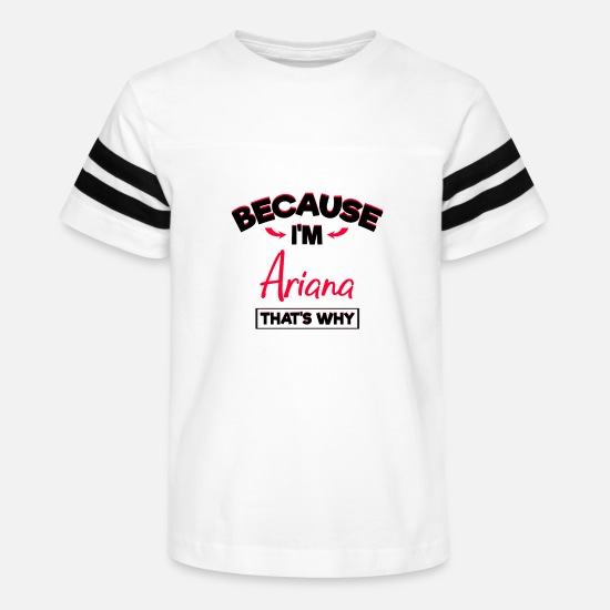Ariana T-Shirts - My Name is Ariana Gifts for Girls - Kids' Vintage Sport T-Shirt white/black