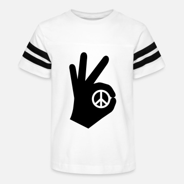 1peaceaday OK Sign - Day 51 - Kids' Vintage Sport T-Shirt