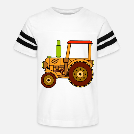 Green T-Shirts - toy tractor - Kids' Vintage Sport T-Shirt white/black