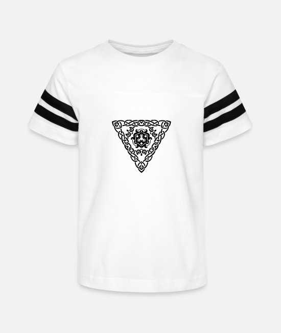 Pattern T-Shirts - Abstract design 255 - Kids' Vintage Sport T-Shirt white/black