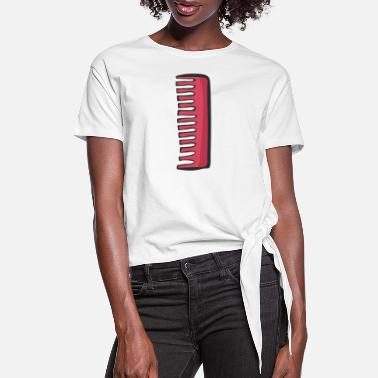 Comb comb - Women's Knotted T-Shirt