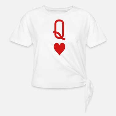 Queen Of Hearts Queen of hearts - Women's Knotted T-Shirt