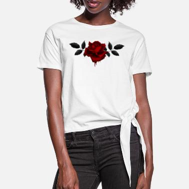 Gothic Gothic Rose - Women's Knotted T-Shirt