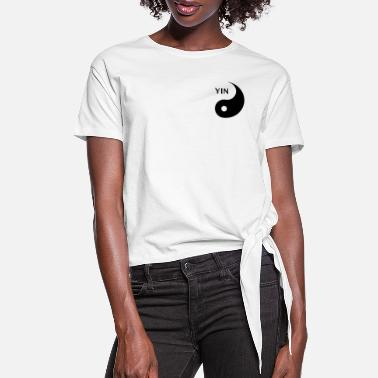 Couple Marriage Spiritual Yin looking for Yang, Part 1, tao, dualities - Women's Knotted T-Shirt