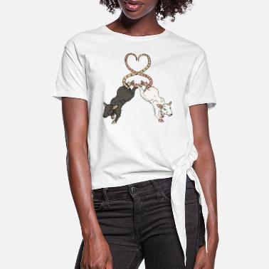 Rat Love - Women's Knotted T-Shirt