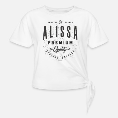 Violet Alissa - Women's Knotted T-Shirt