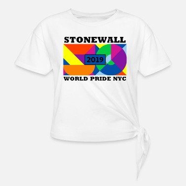 Stonewall 50 Anniversary NYC World Pride - Women's Knotted T-Shirt