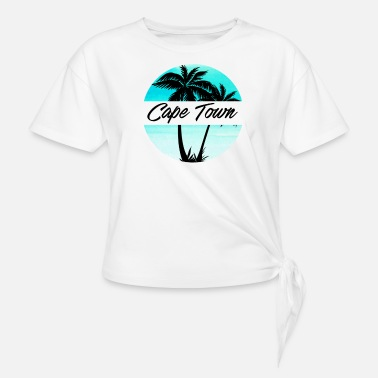 Cape Town Cape Town South Africa Souvenir Palm Trees Vacation Travel Design - Women's Knotted T-Shirt