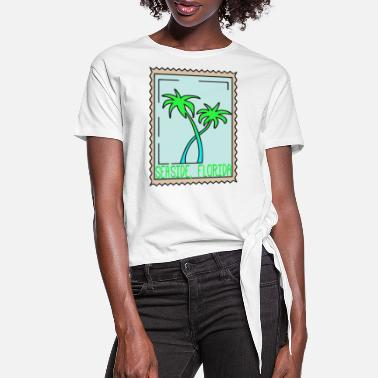 Seaside Seaside Florida Palm Trees Souvenir - Women's Knotted T-Shirt