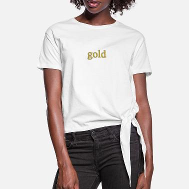 Gold Beach gold - Women's Knotted T-Shirt