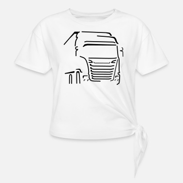 Vehicle Transport Vehicle - Women's Knotted T-Shirt
