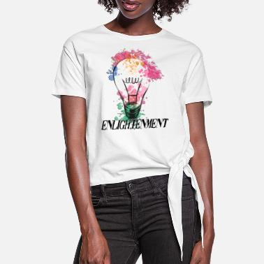 Enlightened Enlightenment - Women's Knotted T-Shirt