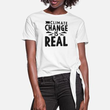 Change Climate Change - Women's Knotted T-Shirt
