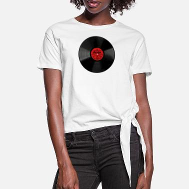 Record Austin Texas Gift Vinyl Record Design - Women's Knotted T-Shirt