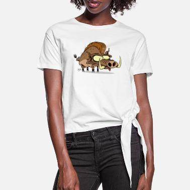 Hog Hog - Women's Knotted T-Shirt