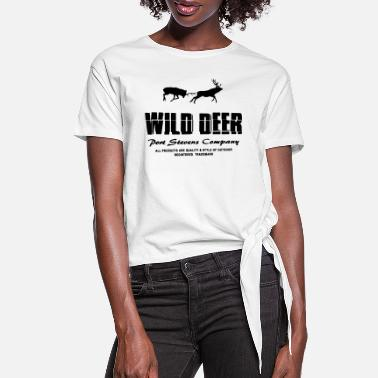 Wild Deer Wild Deer - Women's Knotted T-Shirt