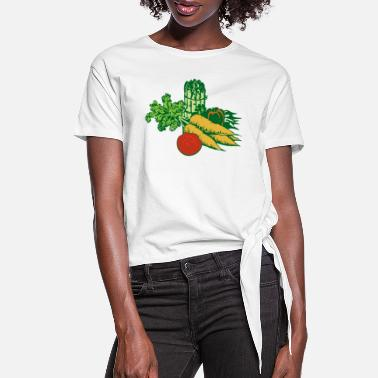 Fruit fruits - Women's Knotted T-Shirt
