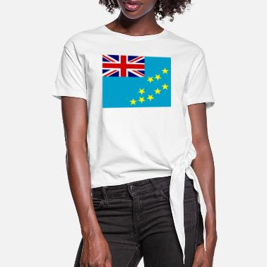 Tuvalu Tuvalu Flag - Women's Knotted T-Shirt