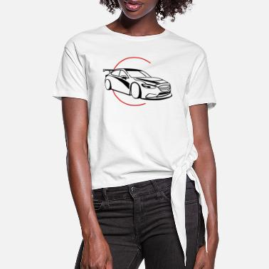 Renner Car,Renner,Sportscar,Vehicle,V8 ✔ - Women's Knotted T-Shirt