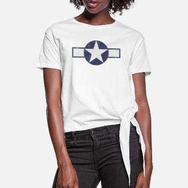 Patches US Air Force USAF Vintage WW2 Logo - Women's Knotted T-Shirt